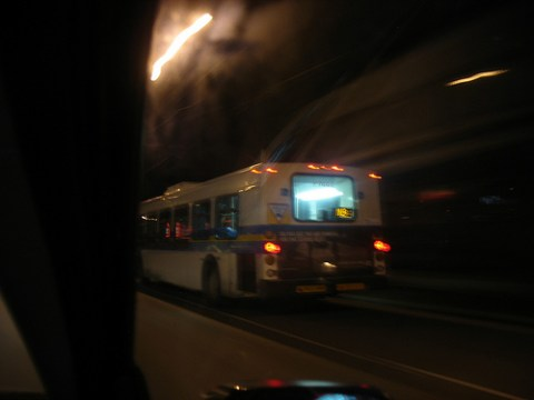 The N9, running its 24 hour service at 3 a.m. on Monday February 15!