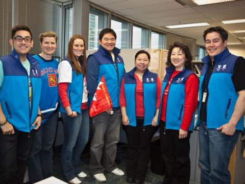 Our Access Transit team in Surrey: Erwin, Liina, Vanessa, Eric, Rani, Cerlin, and Craig. Photo by Charlotte Boychuk.