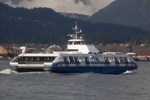 The SeaBus on a sunny day during the Olympic period!
