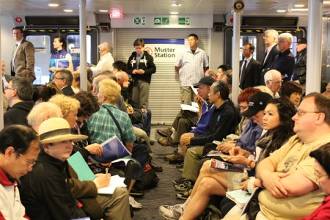 AGM attendees on board the SeaBus.