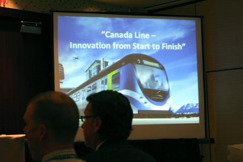 The title slide from the Canada Line presentation.