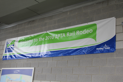 The rail rodeo sign up at VCC-Clark Station.