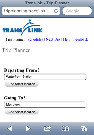 The new TransLink mobile platform...for now