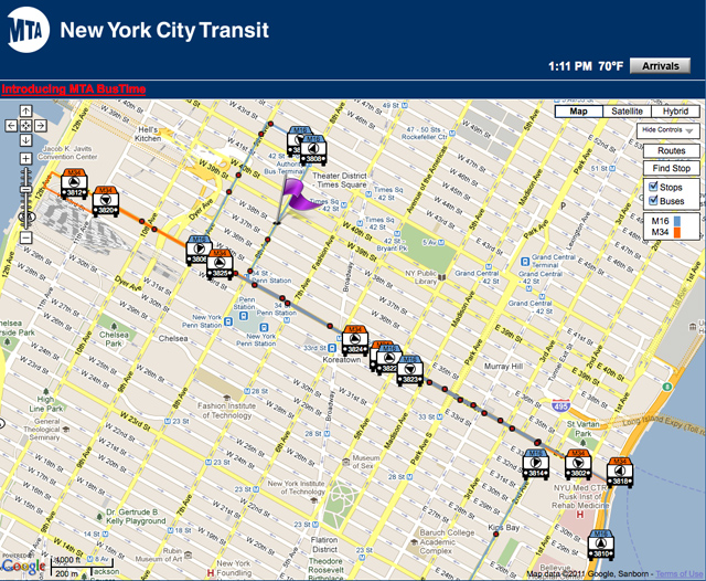 Locating yourself on a transit map using the Metropolitan Transportation Authority's website as a basis