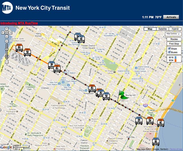 Route Finder for Metropolitan Transportation Authority's website
