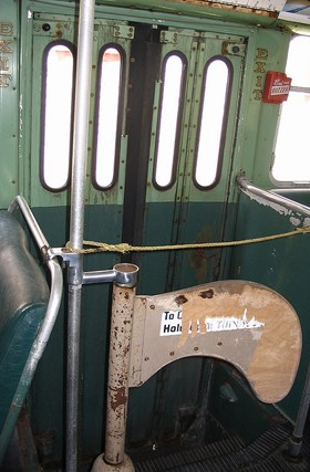 Old gate on the trolley
