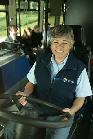 Photo of a bus driver