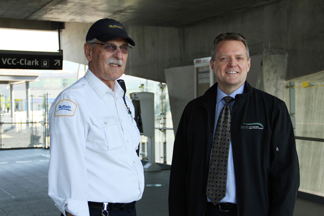 Fred with SkyTrain staff Dave Gross
