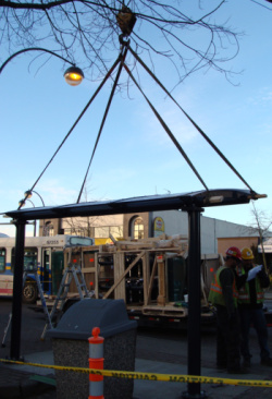 Newton Bus Shelter Installation