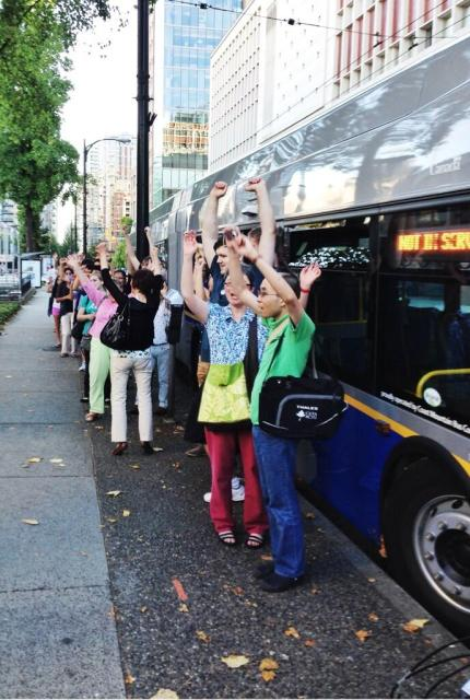 The bus boarding game had everybody excited!