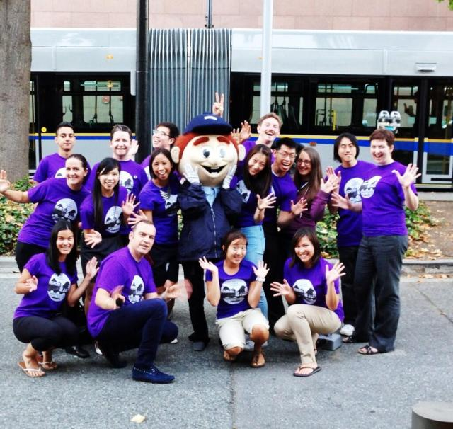 Mr. Buzzer and the the TransLink event staff!