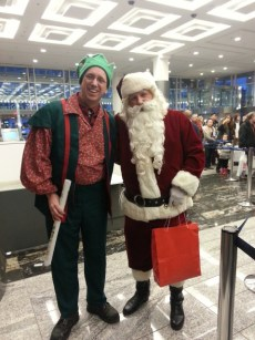 Sparky the Elf and Santa!