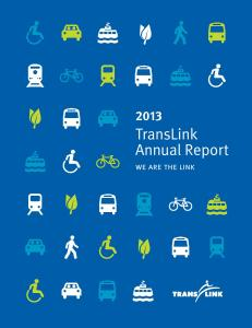 2013 TransLink Annual Report