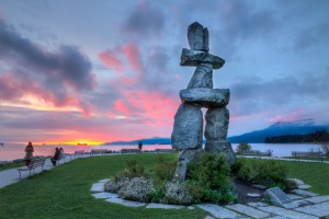 """Inuksuk - English Bay, Vancouver BC"" by Jason Mrachina is licensed under CC BY-NC-ND 2.0."