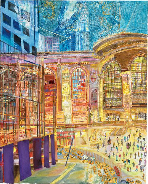 Grand Central Terminal by painter Olive Ayhens (via nytransitmuseum)