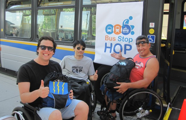 Access Transit's Matt Human with his teammates Soung-Han Kim and Richard Peter!