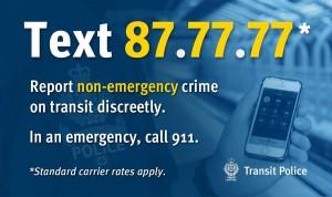 Transit Police 87-77-77 Texting Service