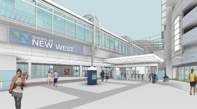 Upgraded station entrance off Carnarvon Street