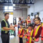 Campers visited the repair yard for SkyTrains!