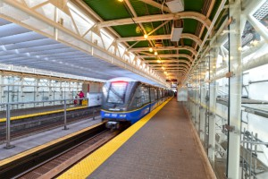 SkyTrain in station