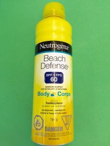 Sunscreen beach