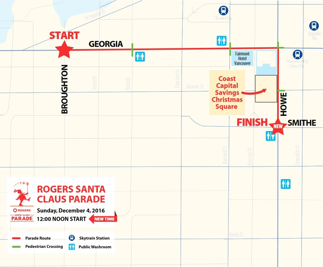 Vancouver Christmas Parade.The Buzzer Blog The Big Guy In Red Rides Into Vancouver