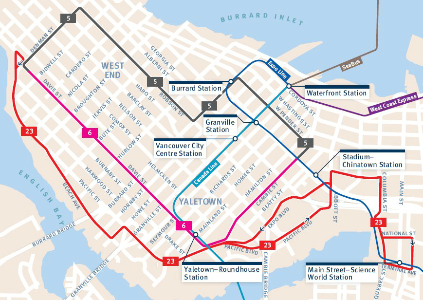 Bus Route Buzz West End Downtown Map