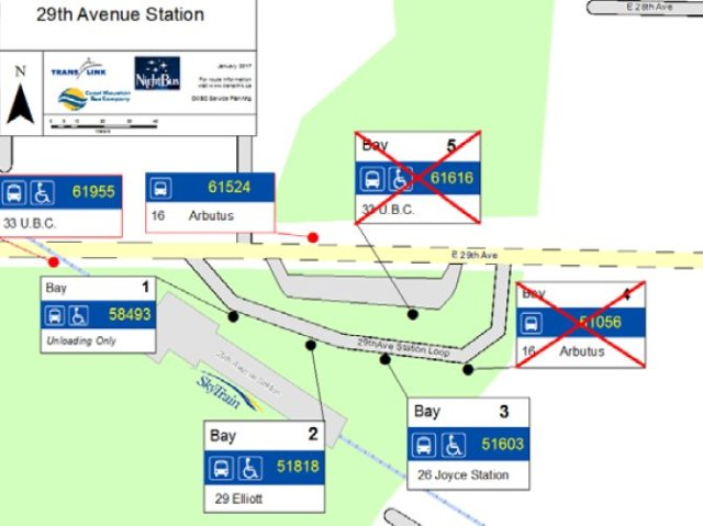 Phase one bus stop moves