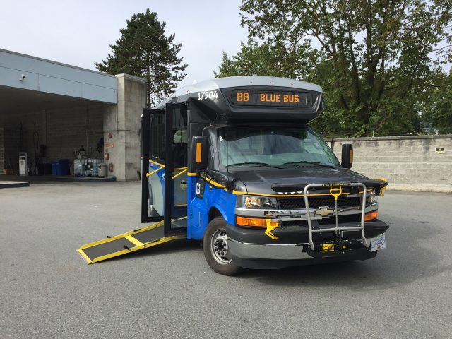 Low-Floor Community Shuttle at bus depot
