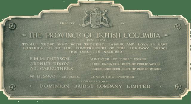 pattullo bridge plaque