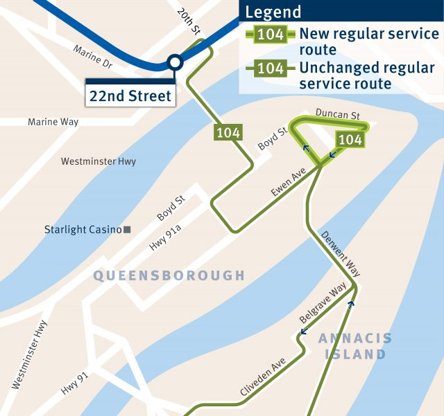 New 104 route starting on Sept. 3, 2018