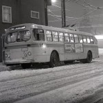 Snowy night at Slocan and Kingsway, 1980
