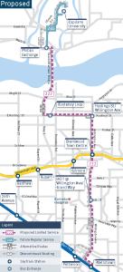 Phibbs-Metrotown Express Map
