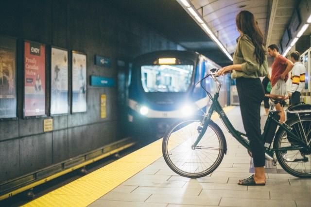 Bike on SkyTrain