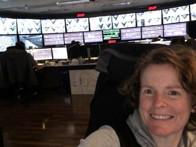 Annnaliese Hunt, a control operator at SkyTrain.