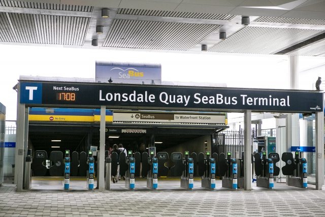 Lonsdale Quay Exchange, picture of the Seabus Terminal