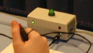 quiz player box hand button buzzer station