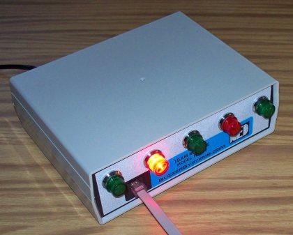 The TM-400 quiz game team box has bright indicators.