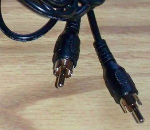 RCA plugs traditional player cord 15 foot
