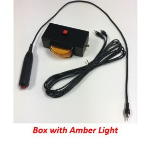 quiz player box bright amber lights