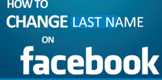 How to change your Facebook last name
