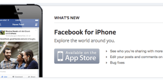 Delete Facebook app on iPhone