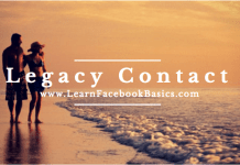 How to choose Facebook Legacy Contact