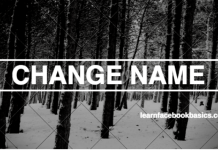 How to Change My Name on Facebook