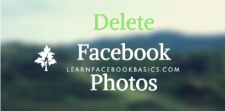 How to delete My Photo on Facebook | Deleting Facebook Photos