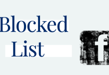 How do I see my blocked list on Facebook?