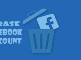 Erase Facebook Account