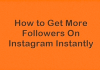 Instagram Followers Instant Delivery
