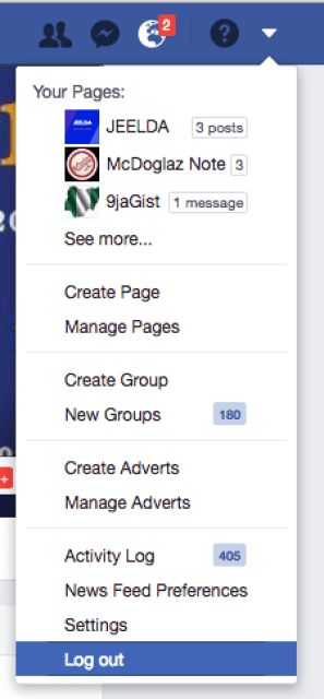 How to Log out of My Facebook Account?