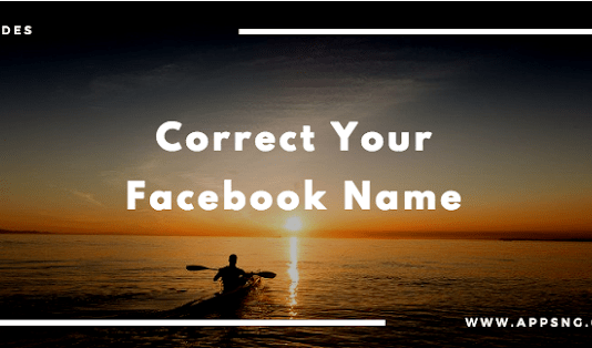 How do I correct my name on Facebook?
